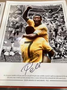 Superb pele signed large montage with COA superb value  £99