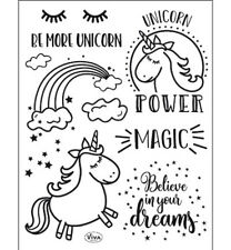 Motiv-stempel Clear-stamp Unicorn Power Einhorn Text DIY Viva-Decor 400316500