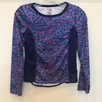 DANSKIN NOW DRIMORE Girl's Long Sleeve Athletic TOP  Tee Size Large 10-12 VGUC