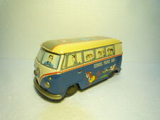 MARVELOUS  VINTAGE  BIG  TIN  VW  BUS  SCHOOL  PICNIC  DAIYA  JAPAN  FRICTION
