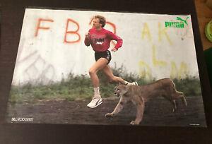 VTG PUMA Poster Bill Rodgers - 22 x 31 Running 1980s