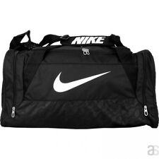 Nike Brasilia 6 Medium Duffel Bag Black BA4829 Soccer Baseball Gym Backpack