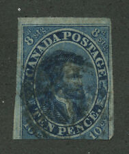 Canada 1855 Jaques Cartier 10d deep blue #7 used