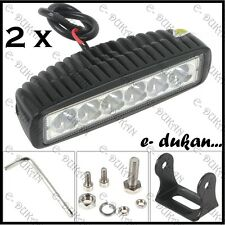 "6 CREE LED 18W 6"" OFF ROAD/ SPOT LIGHT BAR DRIVING AUXILIARY LAMP CAR/BIKE- 2pc"