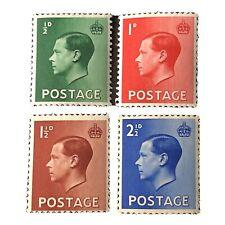 Great Britain, Scott # 230-233(4), Complete Set 1936 Edward Viii Issue Mnh