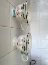 Set 1996 Baileys Irish Cream Ceramic Mugs. YUM limited Edition Winking