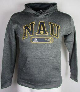 NAU Lumberjacks adidas Climawarm Pullover Hoodie NCAA Heather Gray Men's S-4XL