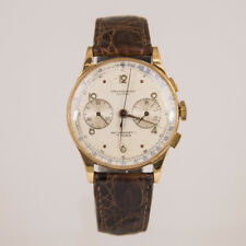 Vintage Chronograph 18K Rose Gold Chronographe Olympic Watch Circa 1940's