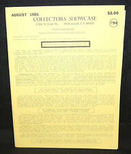 Collector's Showcase #94 Auction Catalog (FN/VF) August 1986
