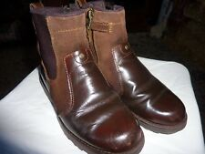 TIMBERLAND SIZE UK 1 EU 33 BROWN SUEDE/LEATHER CHELSEA/ANKLE BOOTS