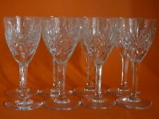 EIGHT RED  WINE GLASSES CRYSTAL SAINT LOUIS CHANTILLY height 5,9""