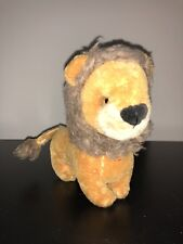 "8"" VINTAGE STEIFF MOHAIR LION ANTIQUE PLUSH STUFFED ANIMAL DOLL OLD GERMANY"