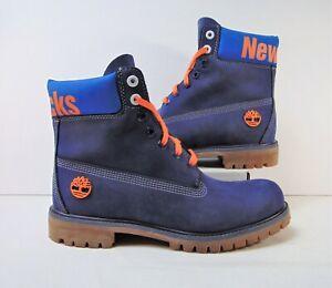 "Timberland x New York Knicks Premium 6"" Blue Boots Sz 9 NEW A2493E09 Limited"