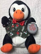 Vtg Bean Bag Plush 1998 Coca Cola Penguin in Holiday Vest Coke Soda Pop 0172