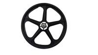 "BMX FRONT BLACK Skyway Tuff II Wheel Mag FRONT WHEEL  Black 20"""