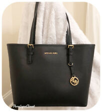 NWT MICHAEL KORS LEATHER JET SET TRAVEL MEDIUM CARRYALL TOTE BAG IN VARIOUS