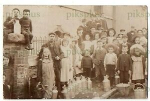SOCIAL HISTORY POSTCARD BARGOED TYPHOID OUTBREAK SOUTH WALES REAL PHOTO USED1908