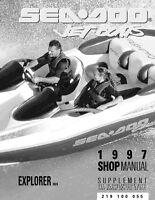 New Sea-Doo 1997 Supplement Explorer Shop Repair Manual 219100055 Bound Book