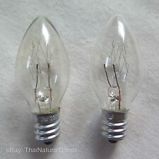 2x E12 Incandescent Bulb 7W Globes, Chandelier, Candle, Light Lamp, C7