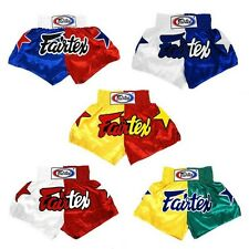 Fairtex Muay Thai Kick Boxing Mma K1 Fighting Satin Shorts Nation Flag Bs110-4