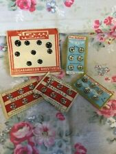 Mix  Vintage Cards  Snap Fasteners / Press Studs