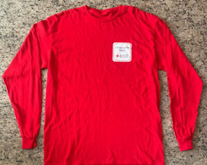 """American Red Cross """"I Help Save Lives"""" Long Sleeve T-shirt X-Large Unisex Adult"""