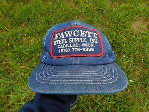 Fawcett Steel Supply Inc. Cadillac Michigan Denim Snapback Hat