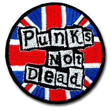 Punk Not Dead Patch Iron on Music Rock UK Flag Badge Sew Heavy Metal Band Biker