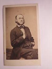 Colmar - sitzender Mann mit Bart & Brille - ca. 1860er Jahre / CDV