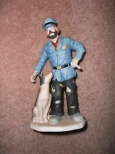 Vintage Emmett Kelly Jr Flambro Collection Clown Policeman Dog K-9 Free Shipping