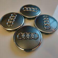 4x original Audi Nabendeckel - grau / silber / anthrazit (8W0601170) - NEU