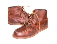 Red Wing 1907 Heritage Brown Leather Moc Toe Ankle Boot Men's Euro 46 US 12 D