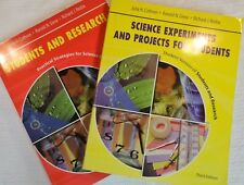 Set of Two Educational Books on Science Research, Experiments, and Projects