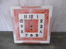 Cadran de Pendule ancienne en porcelaine K&G Lunéville, sans mécanisme Horloge