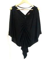 Womens Lolitta sz 12 Black Silky Open Shoulder Top