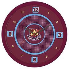 More details for west ham united wall clock bullseye official licensed football fan gift
