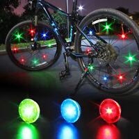 Fj- 1pz Outdoor Ciclismo Biciclette Luce Elettrica Ruota Raggi Pneumatico Torcia