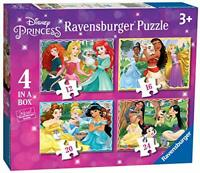 Ravensburger 3079 Disney Princess-4 in Box (12, 16, 20, 24 Piece) Jigsaw Puzzles