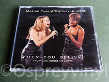 Mariah Carey Whitney Houston When You Believe Cd single with new case
