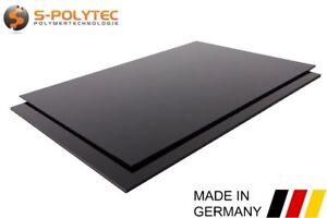 ABS Kunststoff Platte | Zuschnitt | Schwarz | 2 Stück DIN A4 Format TOP Qualität