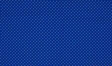 Baumwollstoff 100% Baumwolle Blau weiß Punkte tupfen Pünktchen