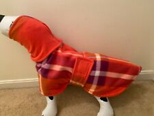 Whippet Dog Coat With Snood Double Layer Fleece  - 20 Inch Dog Coat