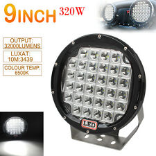 9'' 320W Round CREE XPL LED Car SUV Work Driving Light Spotlight Offroad HID VS