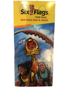Six Flags Over Texas 2019 Park Map & Guide