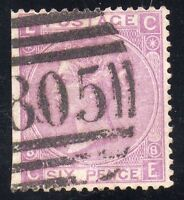 """Great Britain Sc #51 plate 8 Used  """"TORQUAY"""" 805 Cancel"""