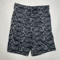 Men's Fruit Of The Loom Gray Stretch Pull-On Cotton Shorts Sz S w/ Pockets