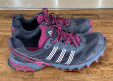 Adidas Kanadia Running Trail Shoes Womens 9.5 Gray Red Low Top Lace Up Sneakers