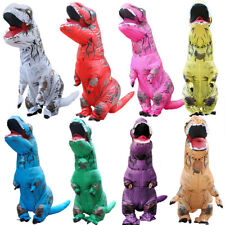 2.2M Inflatable Dinosaur Fancy Costume Adult Christmas Jurassic Park T-Rex Blow