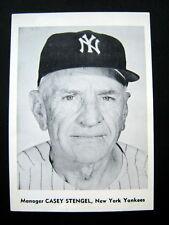 "CASEY STENGEL Manager New York Yankees 5"" x 7"" Black & White Photo"