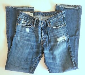 Abercrombie Baxter Boys 16 Low Rise Slim Boot Jeans Bootcut Button Fly TD1-78